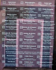 La liste des 31 lyonnais célèbres du mur