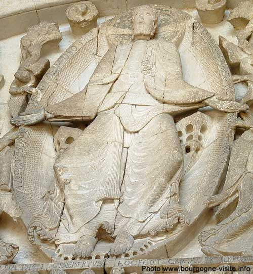 Christ en majesté, tympan de la cathédrale d'Autun