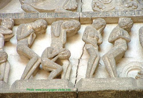 Tympan de la cathédrale d'Autun (détail)