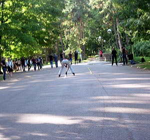 Roller au Parc de la Tête d'Or