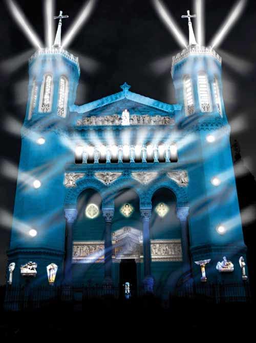 Basilique de Foruvière - DR Tableaux de lumière, Les orpailleurs de lumière