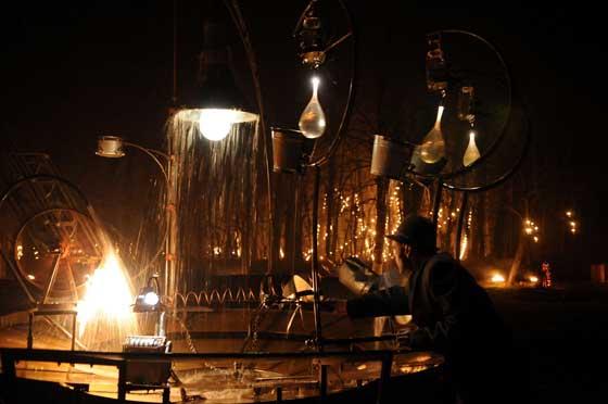 Fête des lumières 2010 - Installation de feu au Parc de la Tête d'Or - Compagnie Carabosse, Vincent Muteau