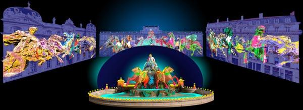 Hommage à Bartholdi - Patrice Warrener - Fête des lumières 2010