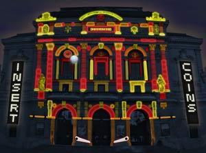 Urban Flipper - Façade du théâtre des Célestins - CT Light Concept