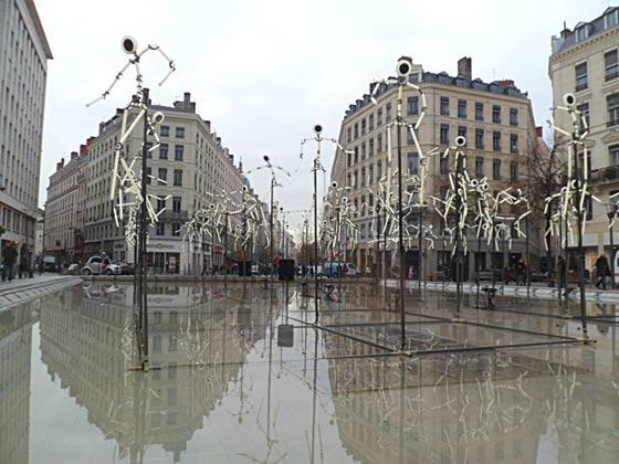 Fête des lumières, Lyon, 8 décembre 2011, Place de la République
