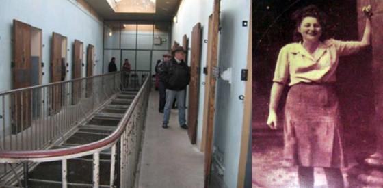Fort Montluc - Les 37 cellules restaurées - A droite Jeanine Sontag