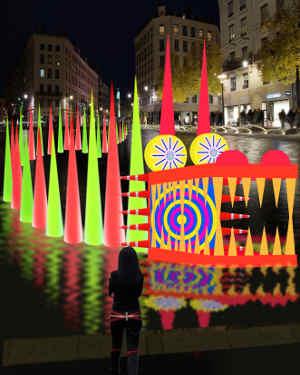 Fête des lumières Lyon 2012 - drago de Fabrice Cahoreau