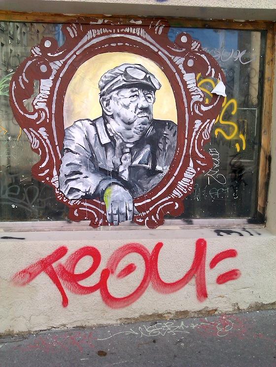 Street-art Lyon visite - Michel Simon - rue de Crimée - 17 novembre 2012