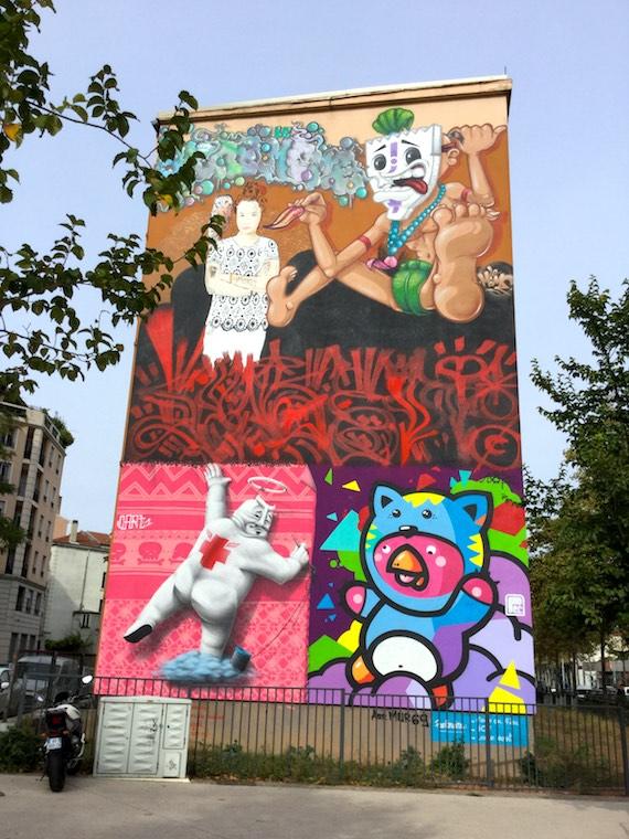 street art graff et graffitis des pentes de la croix rousse lyon visite. Black Bedroom Furniture Sets. Home Design Ideas
