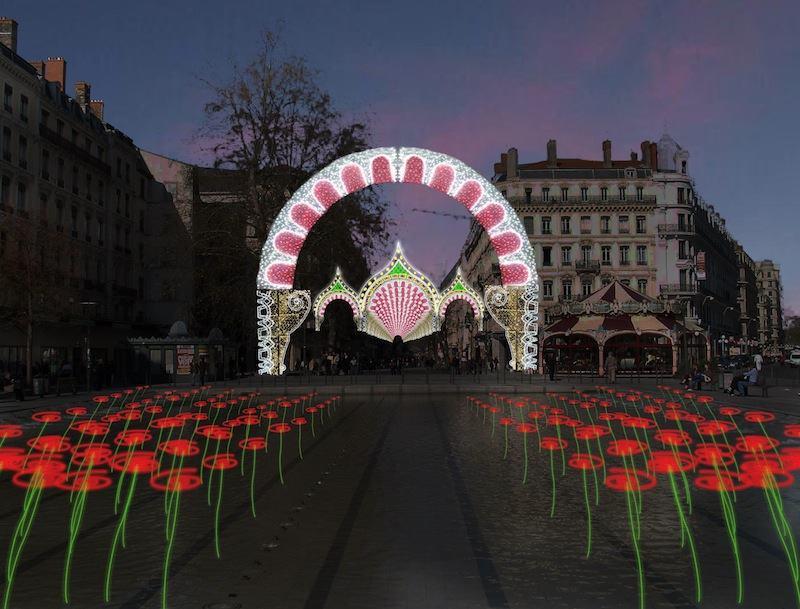 Byzance / Hexagone Illumination - Fête des Lumières 2013 © Ville de Lyon (vue d'artiste)