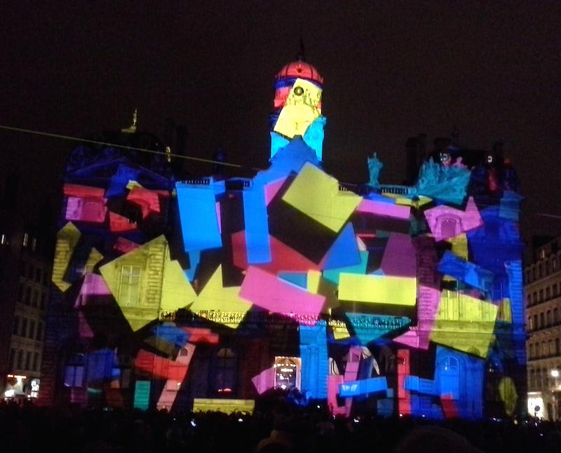 Fête des lumières 2014 - Place des Terreaux - Lyon visite