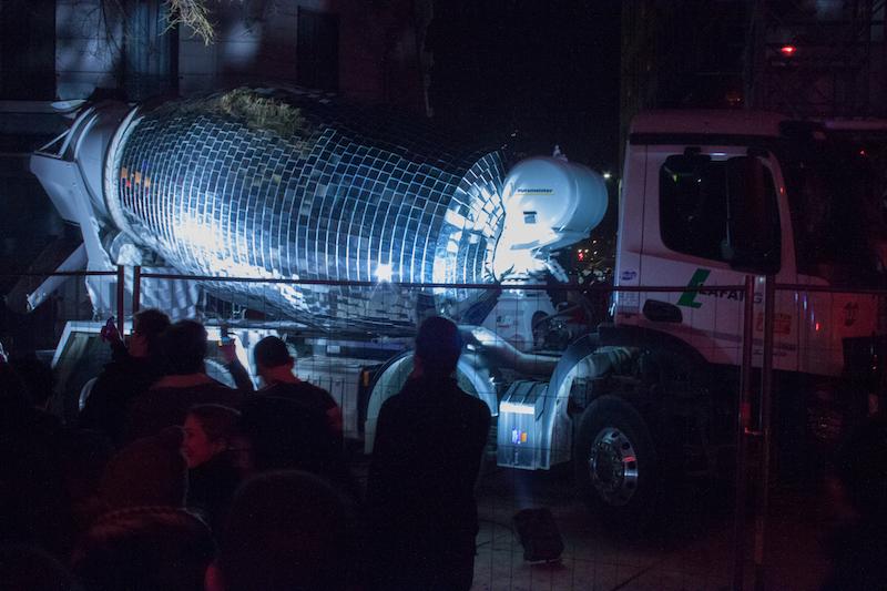 Bétonnière à facettes, création Benedetto Bufalino, fête des lumières Lyon 2016
