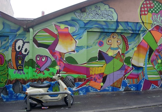 Fresque murale rue Lemot, Lyon