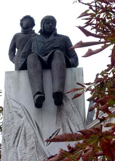 Statue de Saint Exupéry et du Petit Prince, place Bellecour