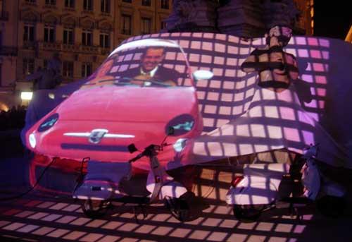 Fête des lumières Lyon 2009 - Place des Jacobins - DR La Dolce Vita Nortikstudio