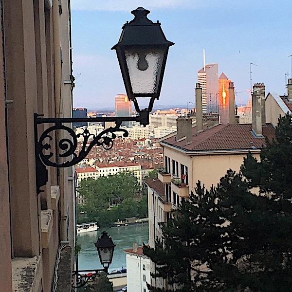 Vue sur le Rhône et Part-Dieu depuis Croix-Rousse