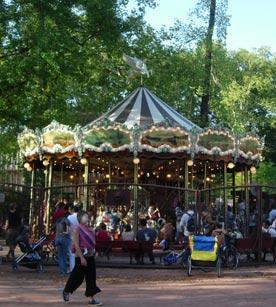Manège au parc de la tête d'or