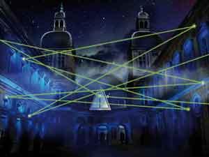 Fête des lumières Lyon 2009 - DR Jouons avec les temps LIGHTMOTIF