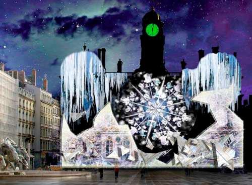 Fête des lumières Lyon 2009 - DR : Jouons avec les temps LIGHTMOTIF