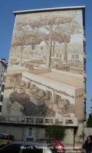 Murs peints musée Tony Garnier, La cité idéale, Habitation, mur n°8