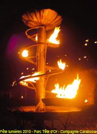 Fête des lumières 2010 - Parc de la Tête d'Or - Compagnie Carabosse