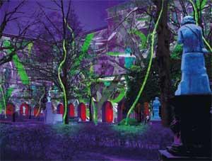 Jardin du Musée des Beaux-Arts - Fête des lumières 2010
