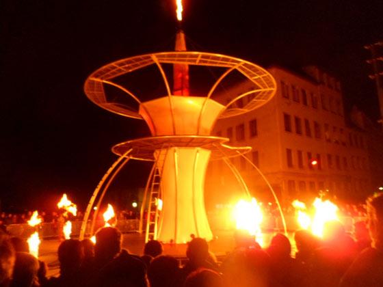 """Fête des lumières Lyon - Gros Caillou - """"Le songe de la flamme"""""""