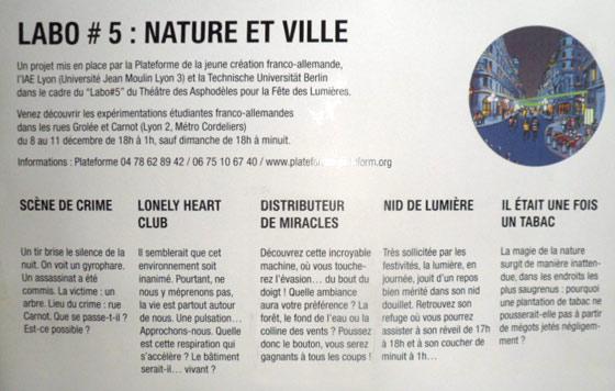 Fête des lumières Lyon - Projets franco-allemands IAE Lyon TU Berlin et Théâtre des Asphodèles