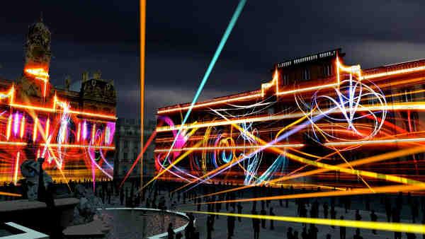 Fête des lumières - Vue d'artiste de la Place des Terreaux - Higlights de Skertzo
