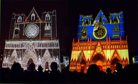 Fête des lumières, cathédrale Saint Jean