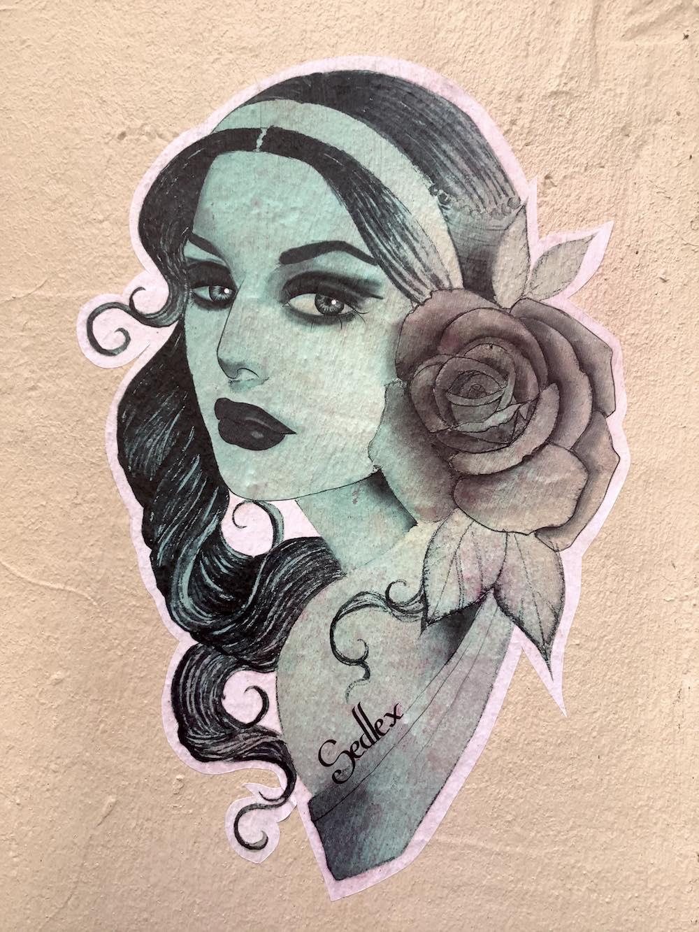 Sedlex, Street-art Lyon pentes de la Croix-Rousse