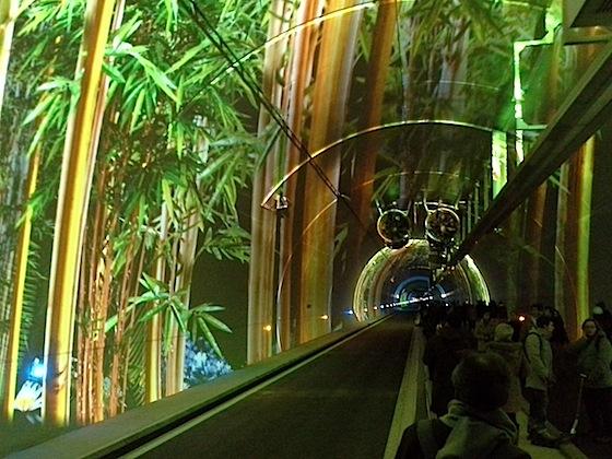 Illuminations pérennes à l'intérieur du tunnel de Croix-Rousse