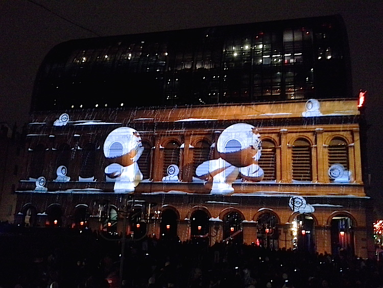 Les Anooki, Fête des lumières 2014, Lyon visite