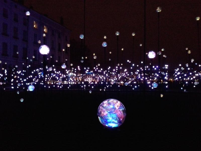 Fête des lumières 2014, place Antonin Poncet