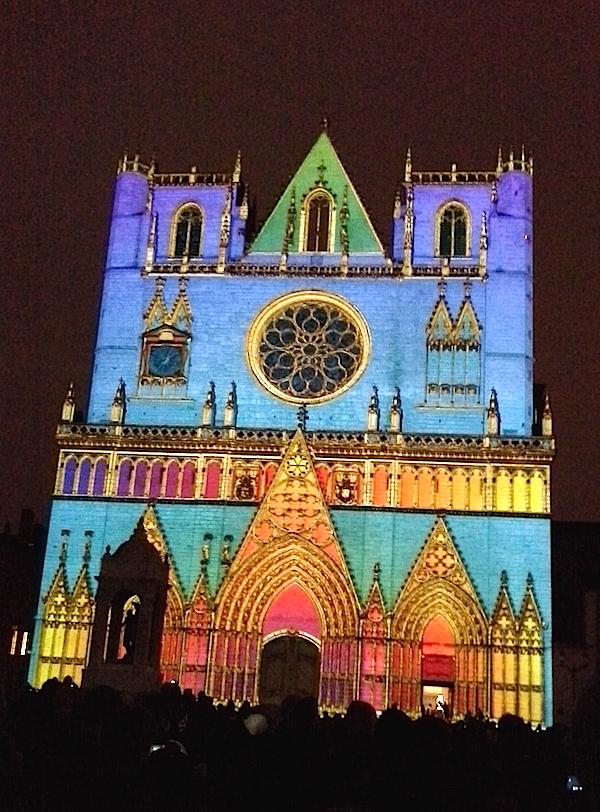 Fête des lumières 2014 - Cathédrale Saint-Jean - Lyon visite