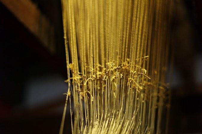 Métier à tisser la soie dans un canut à Lyon Croix-Rousse
