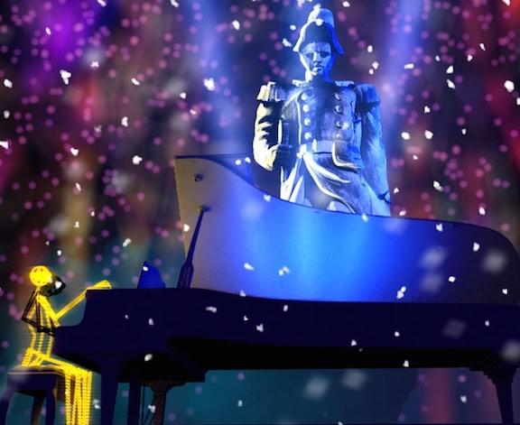 Un piano sous la neige, place Sathonay, Jean-Luc Hervé, Les orpailleurs de lumière
