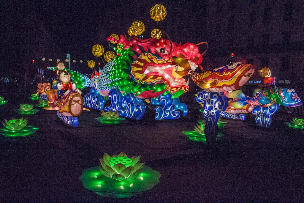Place et rue de la République, Les lanternes de Zigong - Fête des lumières de Lyon 2016