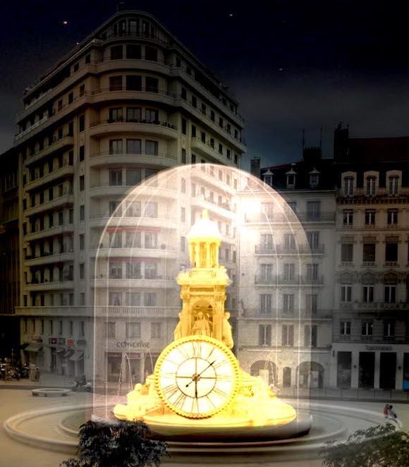 Golden hours, fête des lumières Lyon, Place des Jacobins, Jacques Rival