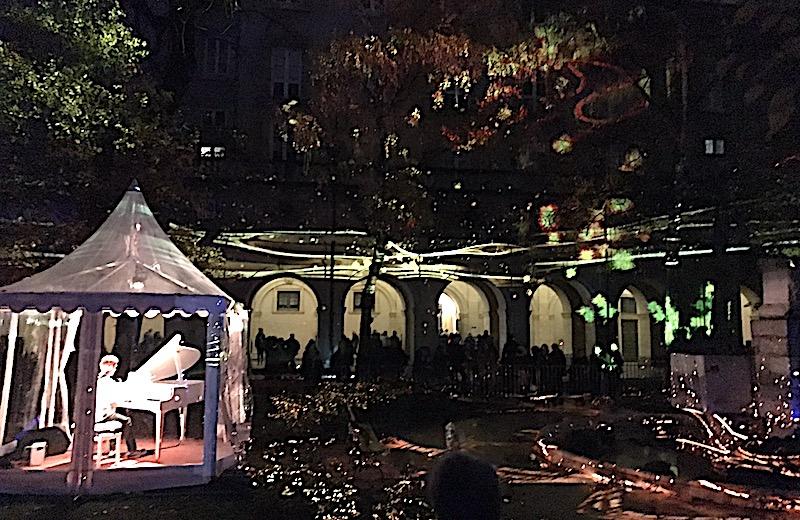 Fête des lumières 2018 dans le cloître du Musée des Beaux-Arts de Lyon