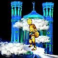 Fête des lumières 2019 — Simulation d'artiste de l'animation de la colline de Fourvière