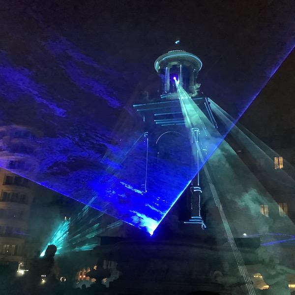 Fontaine des Jacobins, fête des lumières 2019