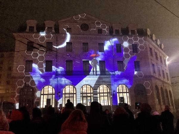 Gare Saint-Paul, animation de Flshka Design, fête des lumières 2019
