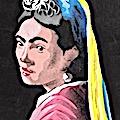 Frida Kahlo en jeune fille à la perle par Jalb 38